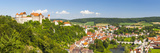 Elevated View over Picturesque Harburg Castle and Old Town Center  Harburg  Bavaria  Germany