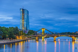 Germany  Hessen  Frankfurt Am Main  Ostend  River Main  New European Central Bank Building