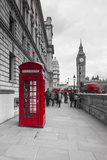 Big Ben  Houses of Parliament and a Red Phone Box  London  England