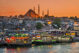 Suleymaniye Mosque and City Skyline at Sunset  Istanbul  Turkey