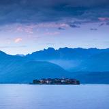 Isola Dei Pescatori (Fishermen's Islands) Illuminated at Dusk  Borromean Islands  Lake Maggiore