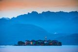 Isola Dei Pescatori (Fishermen's Islands) Illuminated at Sunset  Borromean Islands  Lake Maggiore