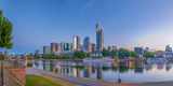 Germany  Hessen  Frankfurt Am Main  City Skyline across River Main