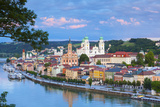 Elevated View Towards the Picturesque City of Passau at Sunset  Passau  Lower Bavaria