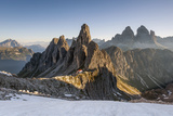 The 'Cadini Di Misurina' Peaks are Shot as the Sun Is Rising in the Dolomites