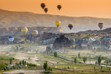Sunrise Landscape with Hot Air Balloons  Goreme  Cappadocia  Turkey