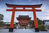 Japan  Kyoto  a Wedding Bride and Groom Pose at Fushimi Inari Shrine