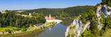 Elevated View over Weltenburg Abbey and the River Danube  Lower Bavaria  Bavaria  Germany