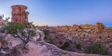 Usa  Utah  Canyonlands National Park  the Needles District  Big Spring Canyon Overlook