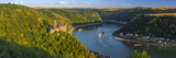Germany  Rhineland Palatinate  River Rhine  Sankt Goarshausen  Burg Katz and River Rhine