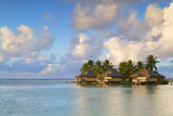 Overwater Bungalows of Intercontinental Mo'Orea Resort  Hauru Point  Moorea