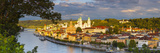 Elevated View Towards the Picturesque City of Passau Illuminated at Sunset  Passau  Lower Bavaria