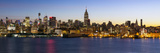 Manhattan  Midtown Manhattan across the Hudson River  New York  United States of America