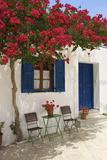 Tavern in Lefkes  Paros Island  Cyclades  Greece