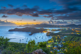 Caribbean  Antigua  English Harbour from Shirley Heights  Sunset