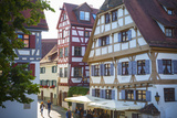 Ornate Half Timbered Houses in Ulm's Fishermen and Tanners' District  Ulm  Baden-Wurttemberg