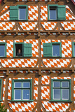 Ornate Half Timbered House in Ulm's Fishermen and Tanners' District  Ulm  Baden-Wurttemberg