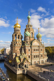 Domes of Church of the Saviour on Spilled Blood  Saint Petersburg  Russia