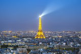 Elevated View of City with the Eiffel Tower in the Distance  Paris  France  Europe