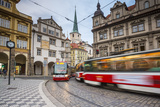 Tram in Mala Strana (Little Quarter)  Prague  Czech Republic