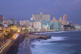 The Malecon Looking Towards Vedado  Havana  Cuba