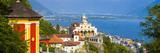 Elevated View over the Picturesque Sanctuary of Madonna Del Sasso  Locarno  Lake Maggiore