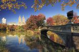 Usa  New York City  Manhattan  Central Park  Bow Bridge