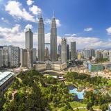Petronas Towers and Klcc  Kuala Lumpur  Malaysia