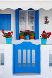 Europe  Greece  Cyclades Island Aegean Sea  Mykonos  Myconos  Blue Gate at Private Home
