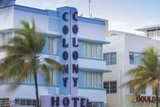 USA  Miami  Miami Beach  South Beach  the Colony Art Deco Hotel on Ocean Drive