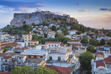 Greece  Attica  Athens  View of Plaka and the Acropolis