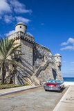 Cojimar Fort and 1959 Dodge Custom Loyal Lancer Convertible  Cojimar  Havana  Cuba (Mr)