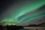 USA  Alaska  Aurora Borealis  Northern lights natural atmospheric effect near the magnetic pole