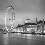 London Eye (Millennium Wheel) and Former County Hall  South Bank  London  England