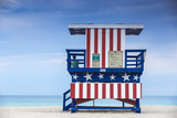 USA  Miami  Miami Beach  South Beach  Life Guard Beach Hut