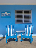Chairs on the Porch of a House  Vinales  Pinar Del Rio Province  Cuba