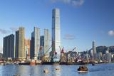 International Commerce Centre (Icc) and Yau Ma Tei Typhoon Shelter  West Kowloon  Hong Kong  China