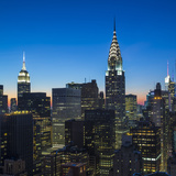 Chrysler Building and Empire State Building  Midtown Manhattan  New York City  New York  USA