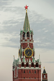 The Kremlin Clocktower in Red Square  Moscow  Russia