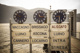 Ferry Terminal Timetable  Cannobio  Lake Maggiore  Piedmont  Italy