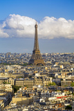 Elevated View over the City with the Eiffel Tower in the Distance  Paris  France  Europe