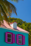 Caribbean  British Virgin Islands  Tortola  Sopers Hole  Traditional Shuttered Windows