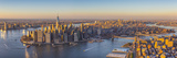 Lower Manhattan from Brooklyn  New York City  New York  USA
