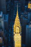 Chrysler Building and Lexington Avenue  Manhattan  New York City  New York  USA