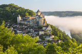 Early Morning Mist  Chateau De Castelnaud  Castelnaud  Dordogne  Aquitaine  France