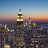 Empire State Building (One World Trade Center Behind)  Manhattan  New York City  New York  USA