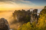 Bastei Bridge  Bastei  Saxon Switzerland National Park  Saxony  Germany