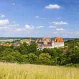 Elevated View Towards the Medieval Harburg Castle  Swabia  Bavaria  Germany
