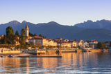 The Idyllic Lakeside Village of Baveno Illuminated at Sunrise  Lake Maggiore  Piedmont  Italy