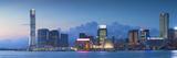 View of Tsim Sha Tsui Skyline at Dusk  Hong Kong  China
